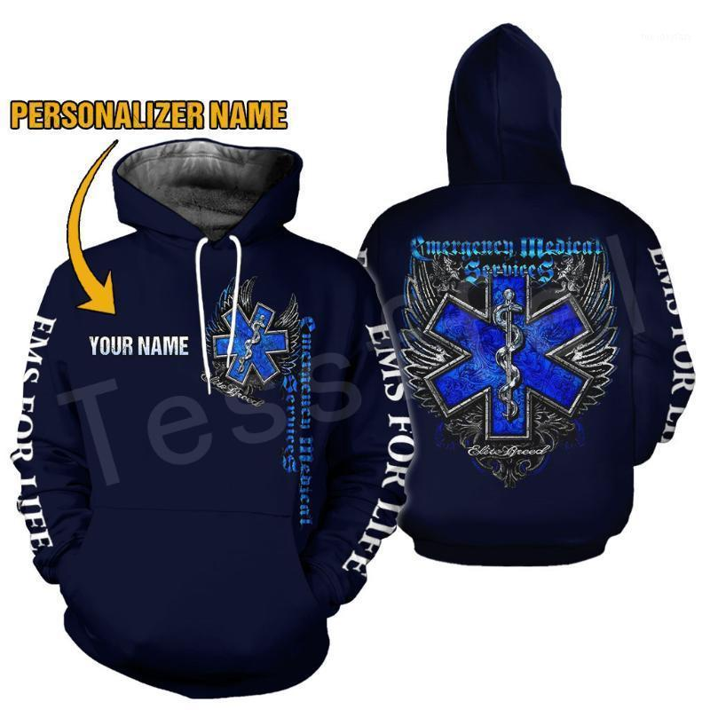 남성용 후드 티 스웨터 응급 기술자 EMT EMS Paramedic Fashion Unisex Pullover 3DPront Sweatshirt / Hoodies / 지퍼 / 자켓 S-111