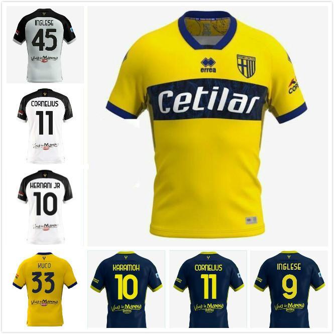 2020 2021 Parme Calcio Soccer Jerseys Darmian Gervinho Inglese Kucka 20 21 Karamoh Cornelius Kulusevski Cyprien Adorante Shirts Football