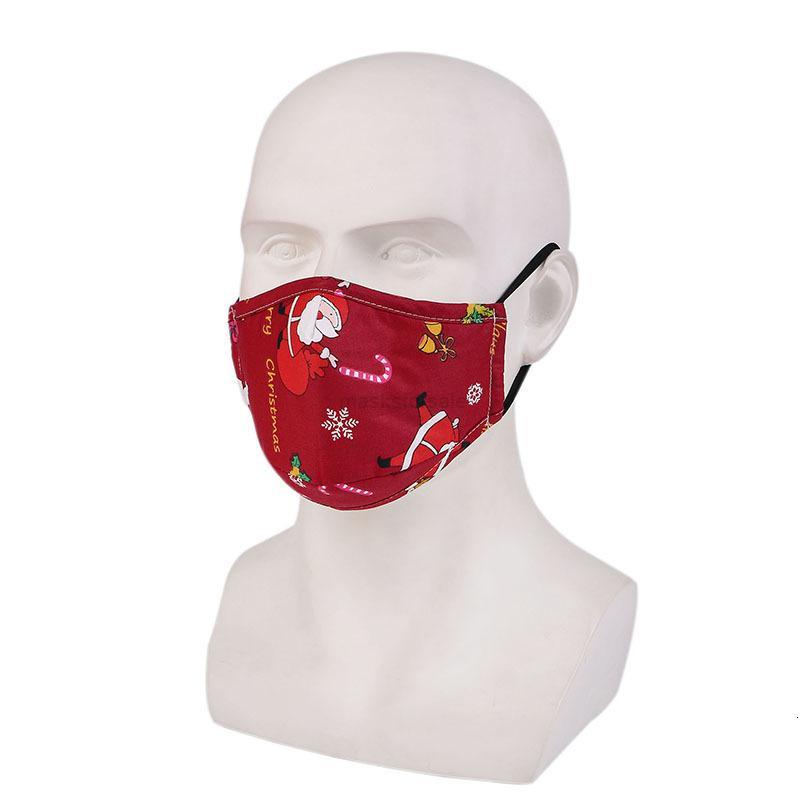 Espessamento 2020 Pure Algodão Impressão de Natal e crescente PM2.5 máscara presentes XHXAKF