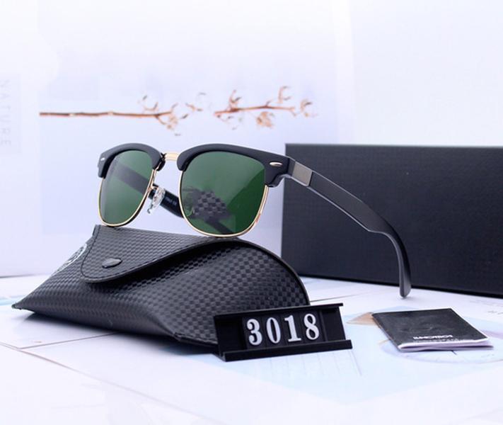 Проектирование поляризованных роскошных солнцезащитных очков запрещает мужские очки пилот с женщинами Очки объектива луча металлические рамки Polaroid 3018 солнцезащитные очки UV400 коробка Eiaua