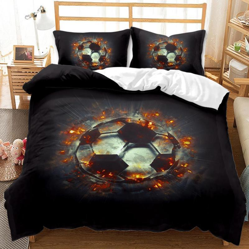 BEST.WENSD Quality western Sports series Winter Duvet Cover Sets Reactive Printing Kids adult 228x228cm bedding set Dropshiping