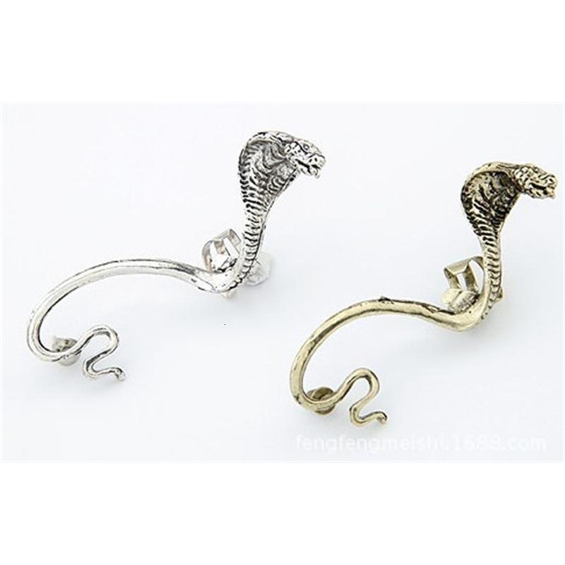 Punk vintage cobra cuffs gótico antiguidade prata / ouro piercing clipes orelha studswomens moda brincos
