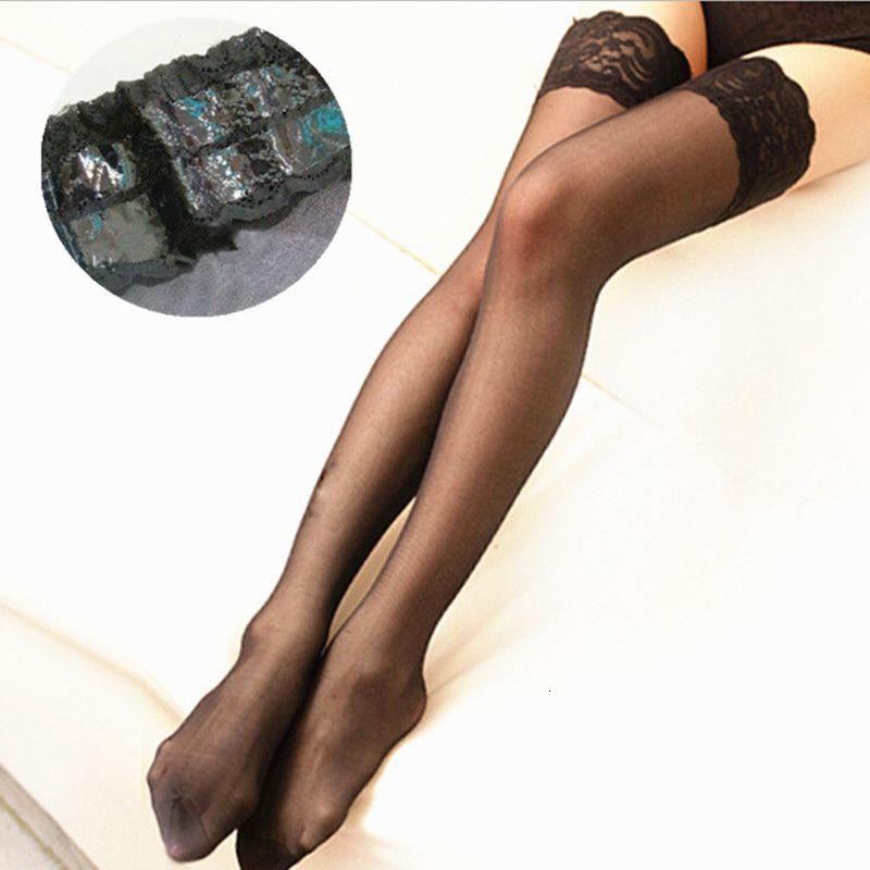 Plus größe frauen lange über strumpfgele spitze oberschenkel kniehohe socken sexy lingerie nylon strümpfe