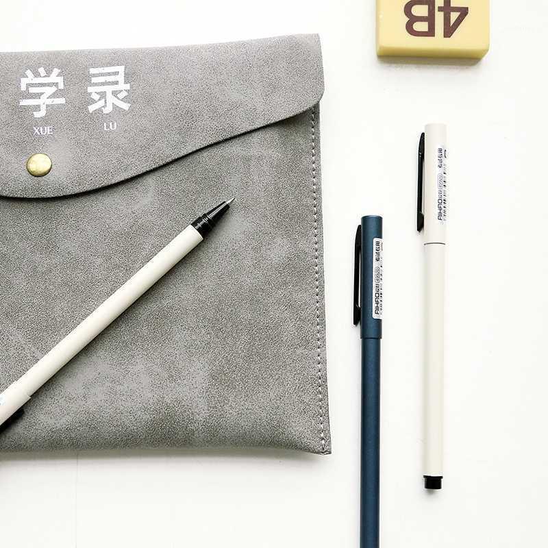 هلام الأقلام الوزارة بارد معدن الأعمال القلم رقيقة قضيب مقبض اللوازم المكتبية 1