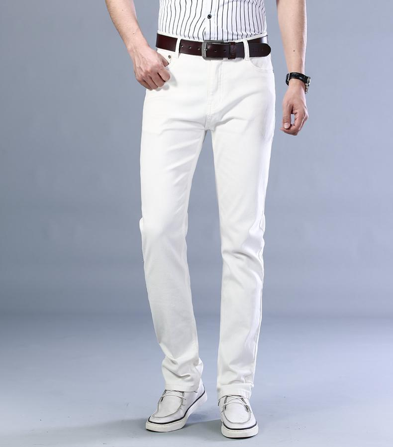 Herrenstil Jeans Mode Business Casual Straight Stretch Jeans Wein Rot