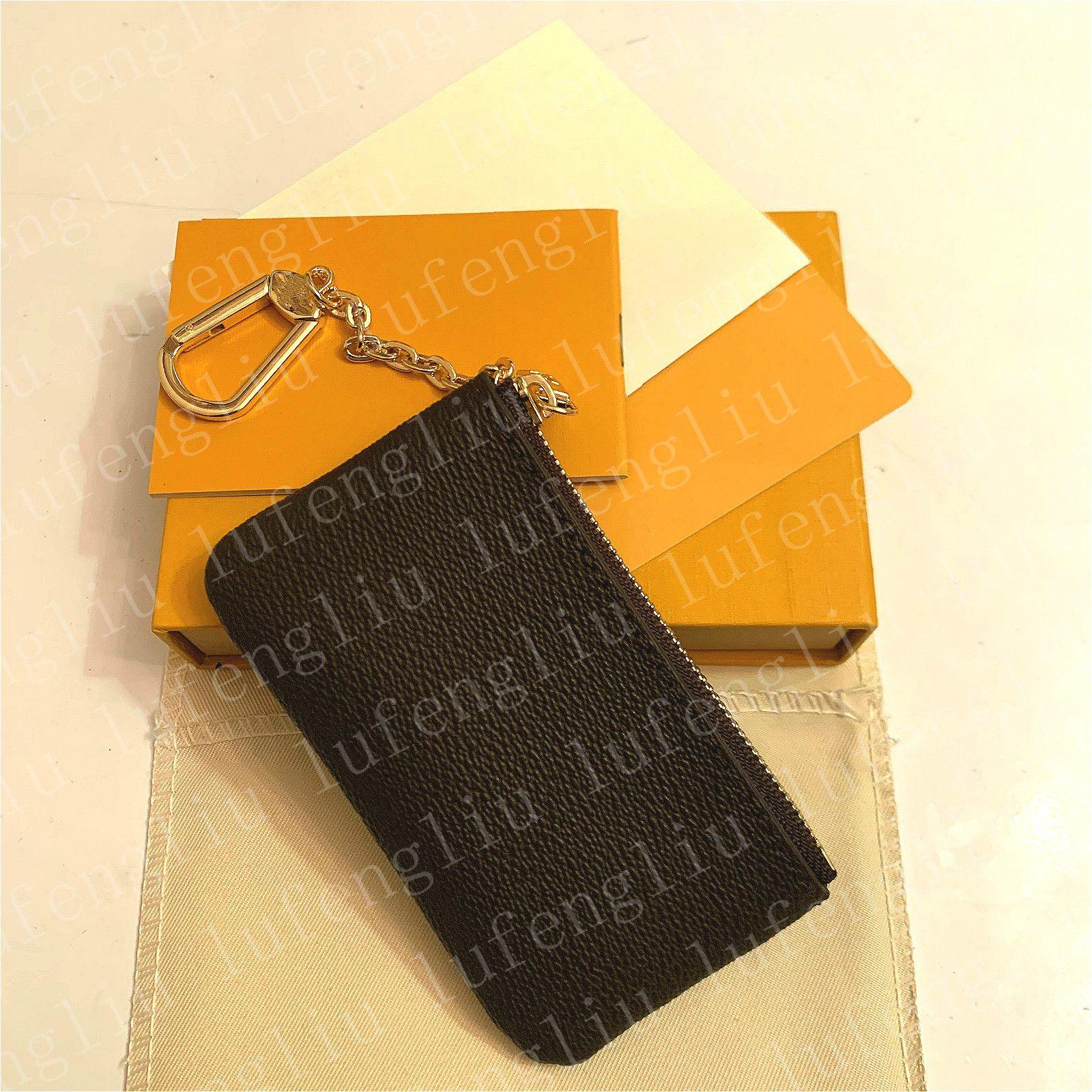 Luxurys 디자이너 키 지갑 동전 동전 지갑 지갑 Mens Key Pouch Womens Card 홀더 핸드백 가죽 카드 미니 지갑 코인 지갑 클러치