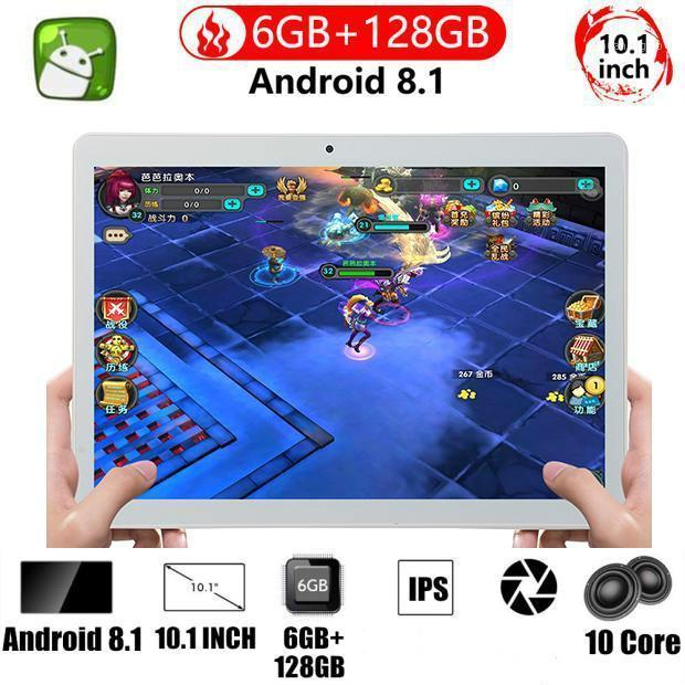 Tablet PC () 2021 Android 9.0 6GB +128GB 10.1 Inch 10 Core Dual SIM Card Pad Pro Phone 4G Call Wifi Tablets1