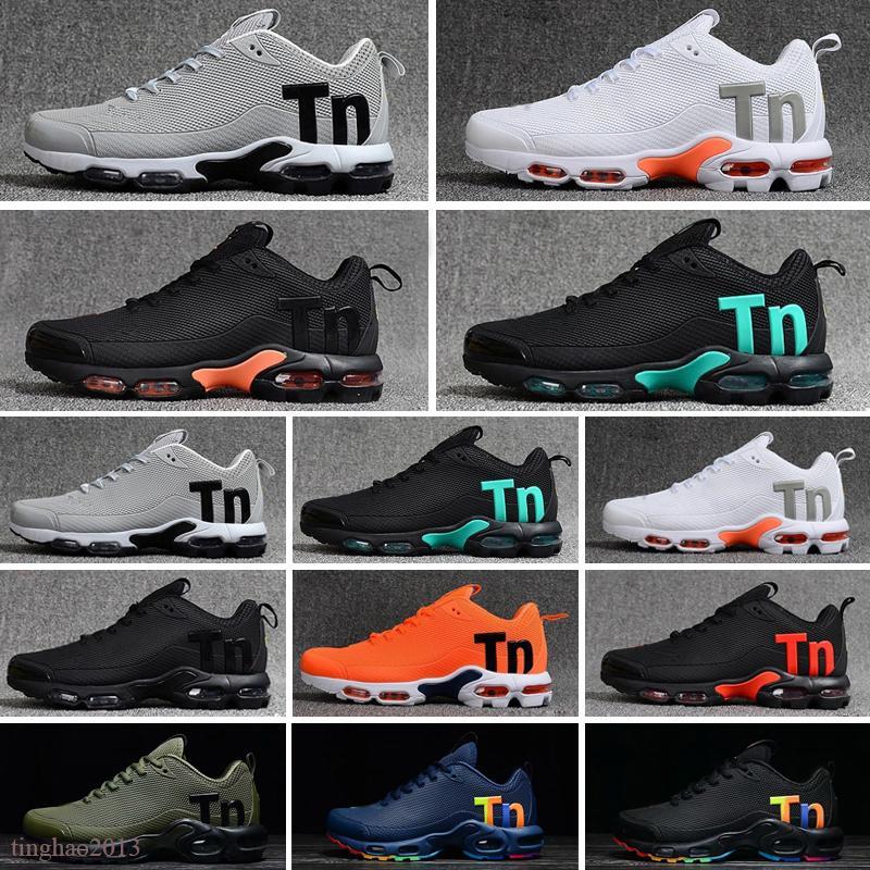 2021 KPU Mercurial Plus TN 2018 Mens tn SE Noir Blanc Orange Chaussures de course Hommes Formateurs Sports Sneakers Taille 40-46