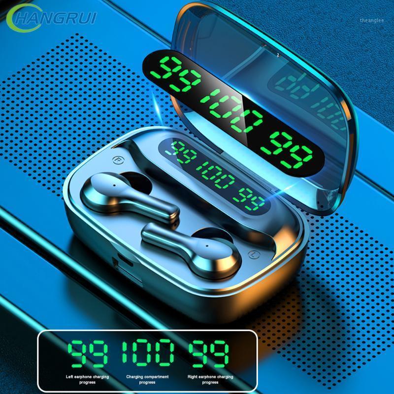 Nova TWS Bluetooth Fone de Ouvido Sem Fio Fones De Ouvido 2000mAh LED Display Earbuds Esporte Impermeável Auscultadores Mic Airbuds Earphones1