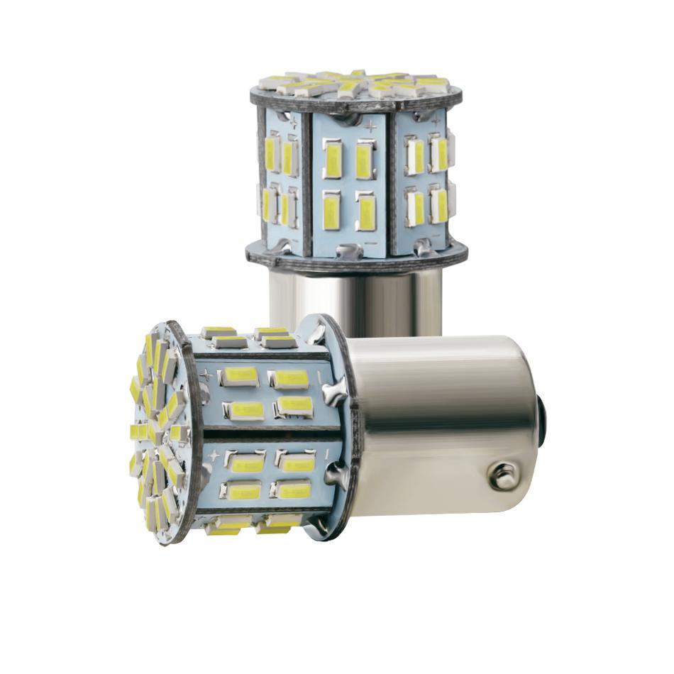 3014 50 SMD LED S25 1156 BA15S P21W 1157 Bay15D Araba LED Direksiyon Göstergesi Lamba Dönüş Sinyali Işıkları 12 V 6000 K Beyaz Fren Bulitleri