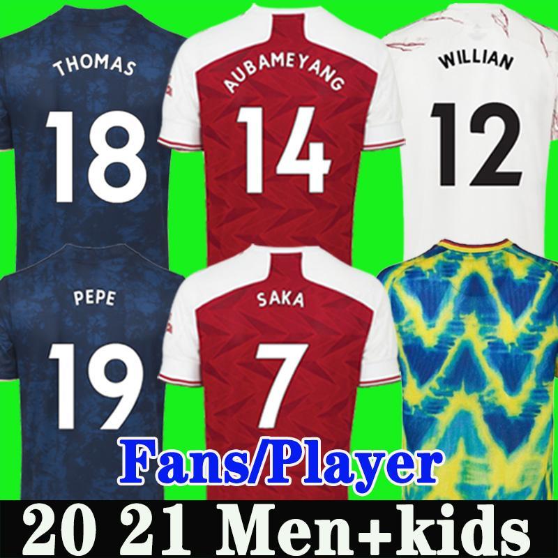 Hayranlar oyuncu versiyonu Arsen dördüncü futbol forması 20 21 Pepe Saka Thomas Willian Nicolas Tierney Maitland-Niles Futbol Gömlek Erkekler Çocuklar 4