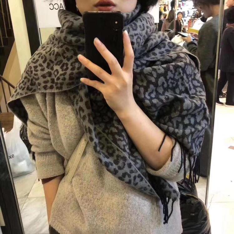 S1905 New Winter Women's Scarf Tassels Leopard Scarf Heat Preservation Shawl Warm Scarves