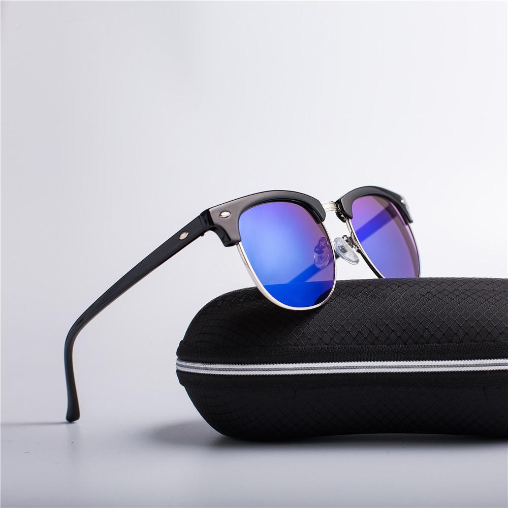 MEDIOS METICOS Moda Hombres / Mujeres Diseñador de marca Ruido Retro Lente de alta calidad Lentes Clásicos Gafas de sol Clases de mujer UV400