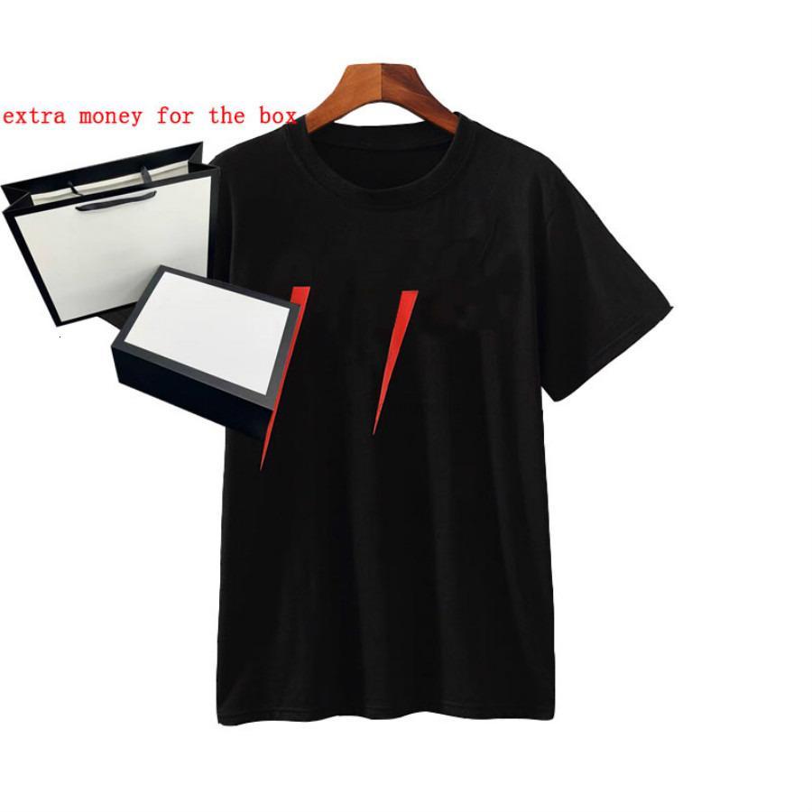 Neck 20SS Stampa Uomini T-Shirt Crew Designer Lettera Casual Estate Estate Traspirante Mens Donne T-shirt a colori solidi Top di colore Tops all'ingrosso
