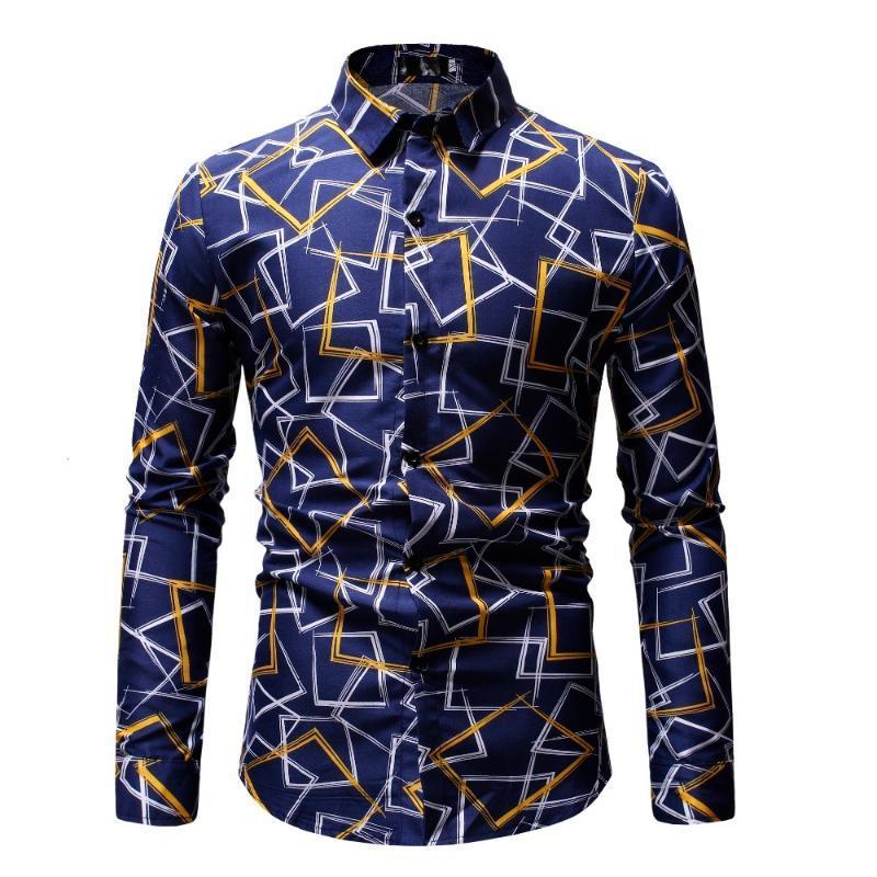 Homens Manga Longa Camisa Negócio Formal Camisas Floral Imprimir Camisa Cor Sólida Alta Qualidade Oxford Algodão Slim Fit Camisas Grandes