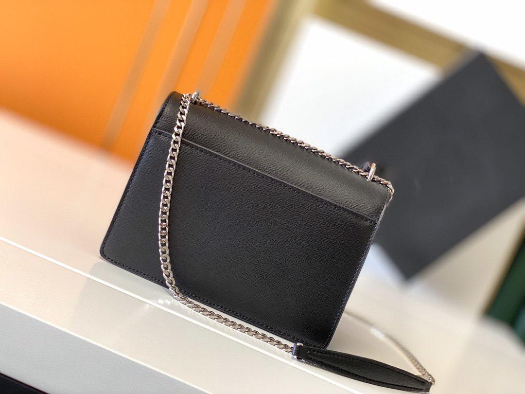 Versione aggiornata della lembo sacchetto di lusso Designer di lusso borse da tramonto Borse a tracolla donna Moda Medio Crossbody Bag 422906