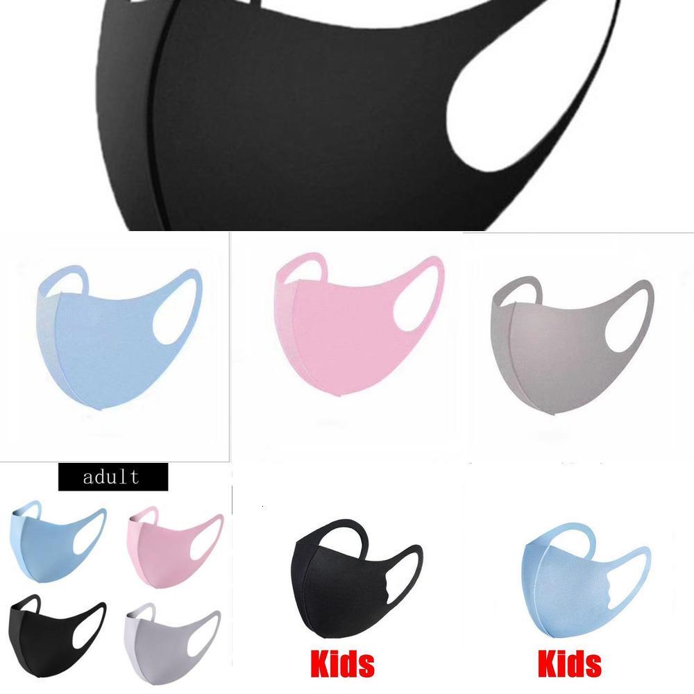 pacote de máscara de gelo lavável seda de gelo no pano máscara facial individual Stock desenhador de máscaras reutilizáveis adultos máscaras crianças dhl frw1