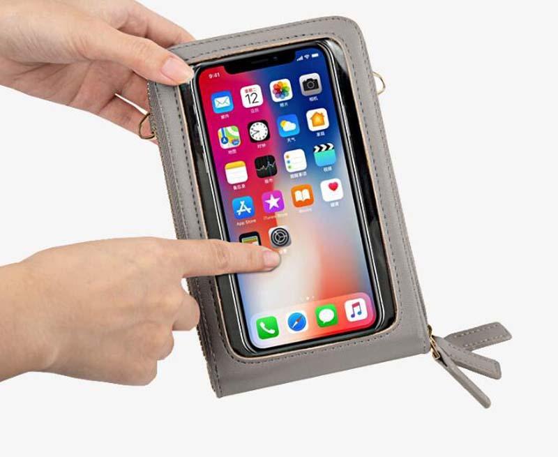 10 adet DHL Çok fonksiyonlu Dokunmatik Ekran Cep Telefonu Çanta Kadın Çapraz Vücut Çanta 2020 Yeni Moda Büyük Kapasiteli Cep Telefonu Torbalar 13 Renkler