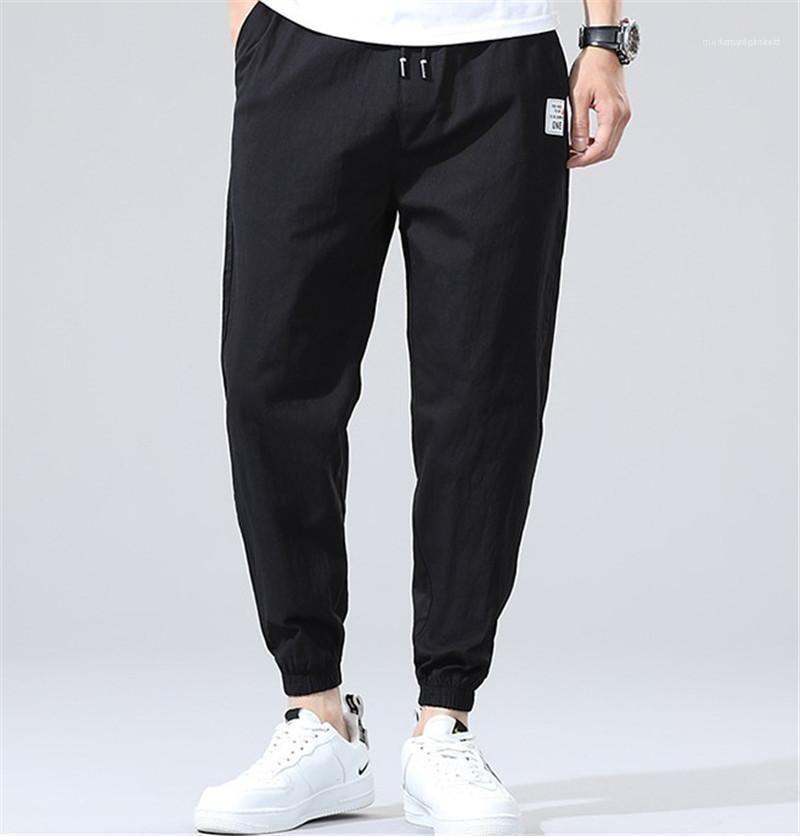 Pocket Active Coulisstring Capris Pants Fitness Mens Pure Pure Color Mid Vita Pantaloni da uomo Pantaloni merci Moda
