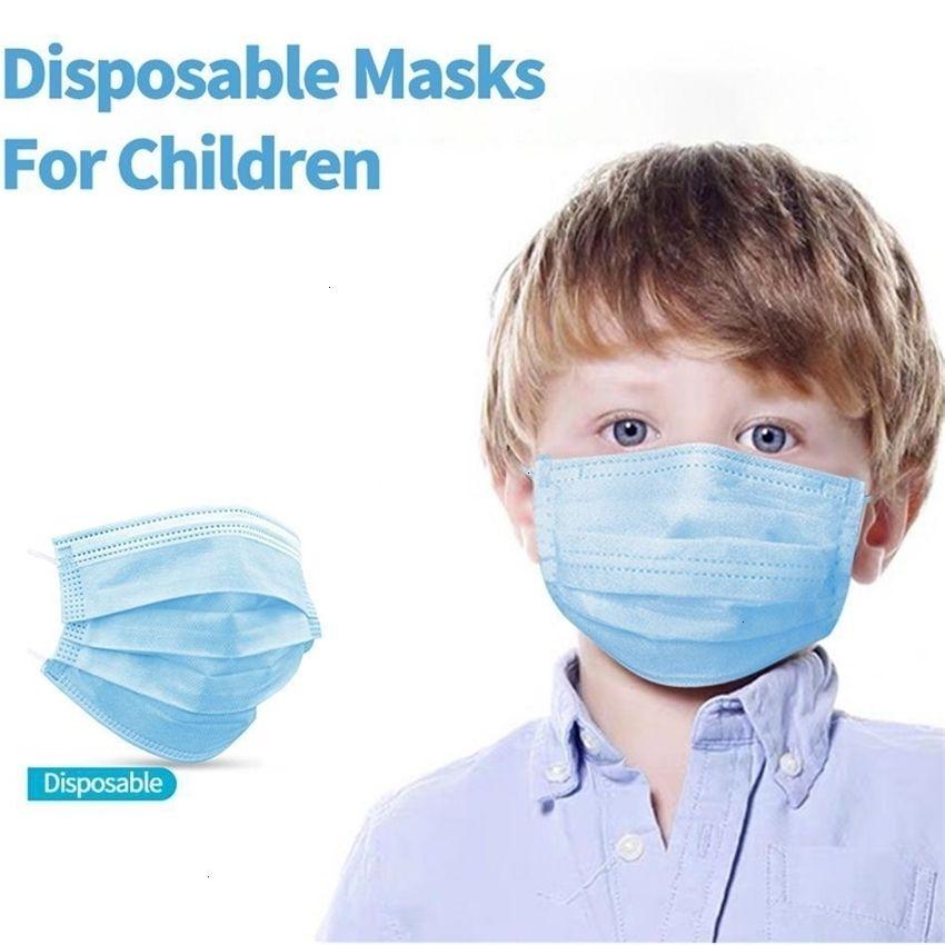 3 50pcs / lot Auf Lager! Kinder wegwerfbare Vliesstoffe atmungsaktive Kinder Gesichtsmaske staubdichte Galloop-Mundmasken FAST S