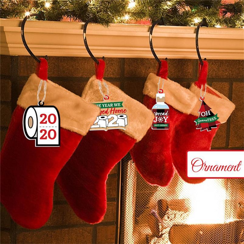 Рождественские украшения украшения бумаги кулон туалетная бумага не микробов 2021 Новый год фестиваль вечеринка Рождественские кулоны висит игрушки E111705