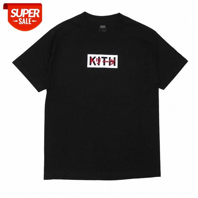 Yaz Yeni KITH Dünya Günü Tee Erkekler Kadınlar Yüksek Kalite Moda Rahat Kith T-Shirt Mektubu Boyama Nakış Uzun Kollu T-Shirt # X86D