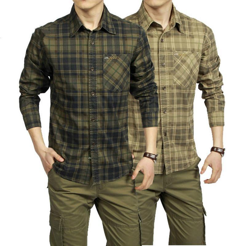 Marca camisa hombres camisa casual algodón manga larga camisa masculina cuello turno camisetas para hombre camisas PLSU Tamaño M-3XL