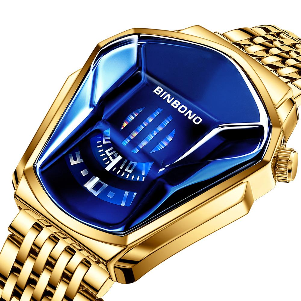 Toppmärke Luxury Military Fashion Sport Watch Men Guld Armbands Klockor Man Klocka Casual Kronograf Armbandsur 2021