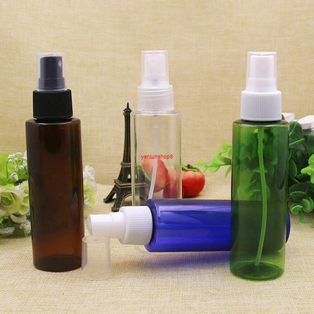 30 pcs 100 ml TRANSPARENT COURANT PET EMPLACEMENT COSMETIC EMBALLAGE POMPE DE POMPE DE POMPE DE POMMES DE POISSON, Paquet de contenant de la bouteille de parfum 100cc