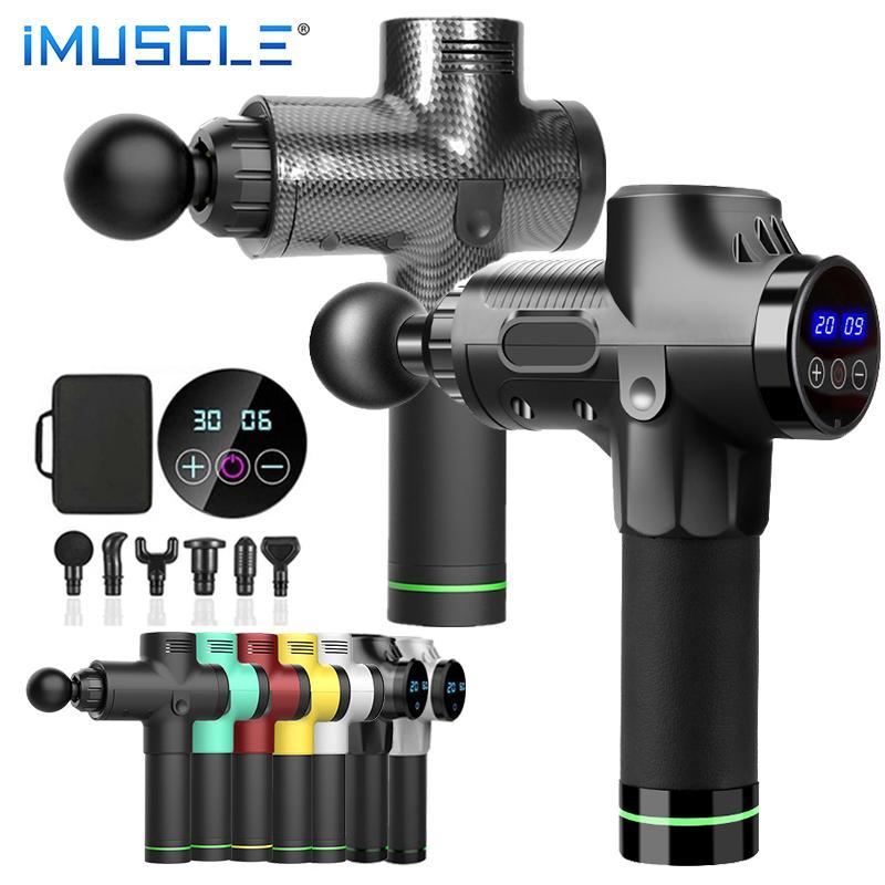 Músculo Massage Gun Fáscia Gun Pescoço Massager Vibração Fitness Equipamento Redução de Ruído Massager Elétrico