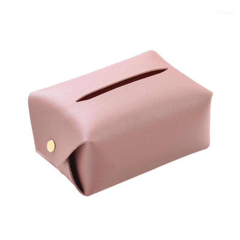 Sacchetto del tessuto Box Soggiorno Desktop Home Car Impermeabile Tovagliolo Portavolo Faux Leather Decorazione tavolo dell'hotel Office1