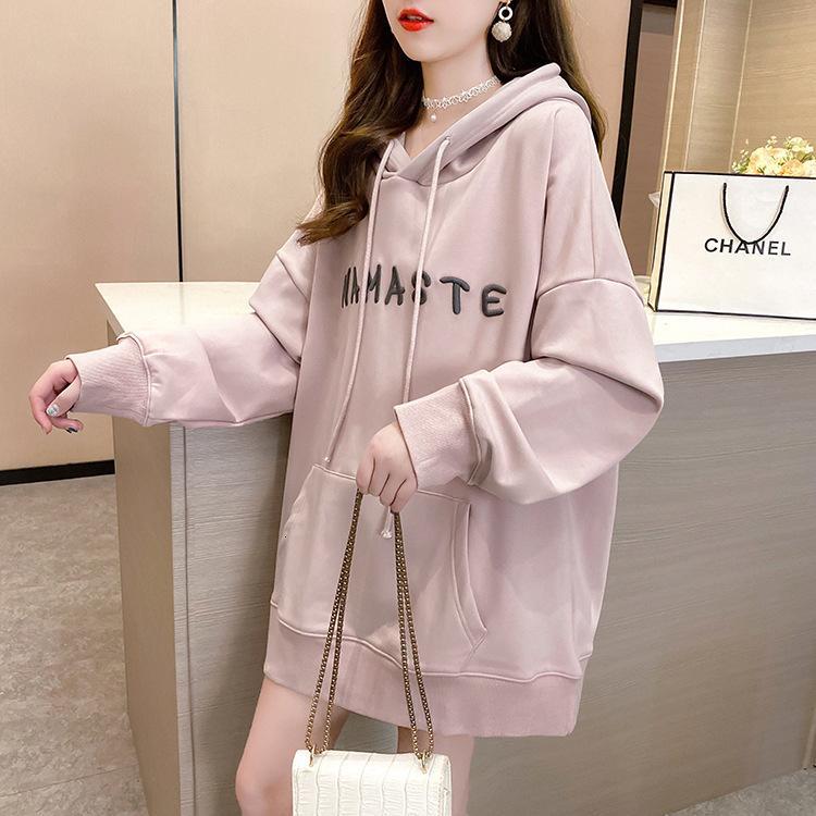 2020 зима новая корейская мода супер пожар CEC писем с капюшоном напечатан свободный плюшевый утолщенный свитер для женщин