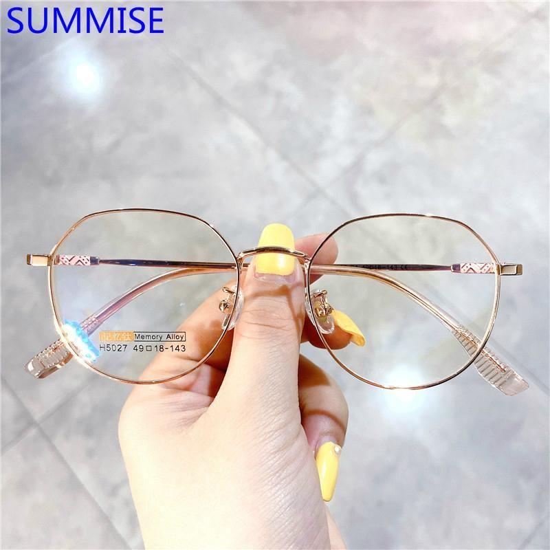 SUMMISE Titan Brillengestell Frau Myopie Brillen Feld Frauen 2020 Optische Gläser Mode Brillen Top-Qualität