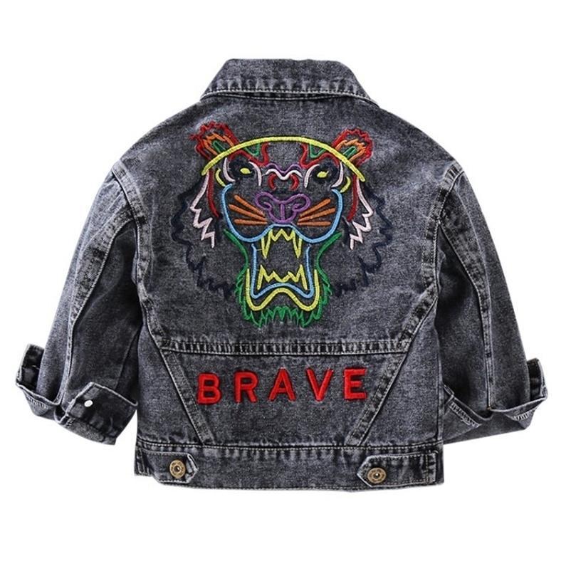 Crianças denim jaqueta casaco novo outono crianças moda remendo outerwear bebê menino menina buraco jeans casaco frete 201209