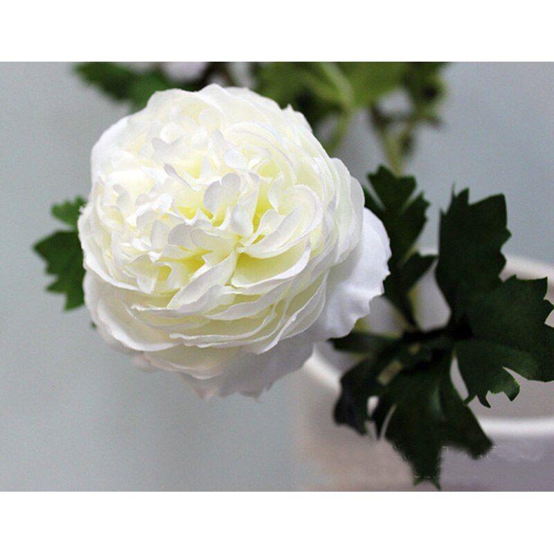 54cm Silk Artificial Peony Flowers 8cm Single Head Fake Flower with Leaf Home Vase Decor Wedding Bouquet Party Decoration