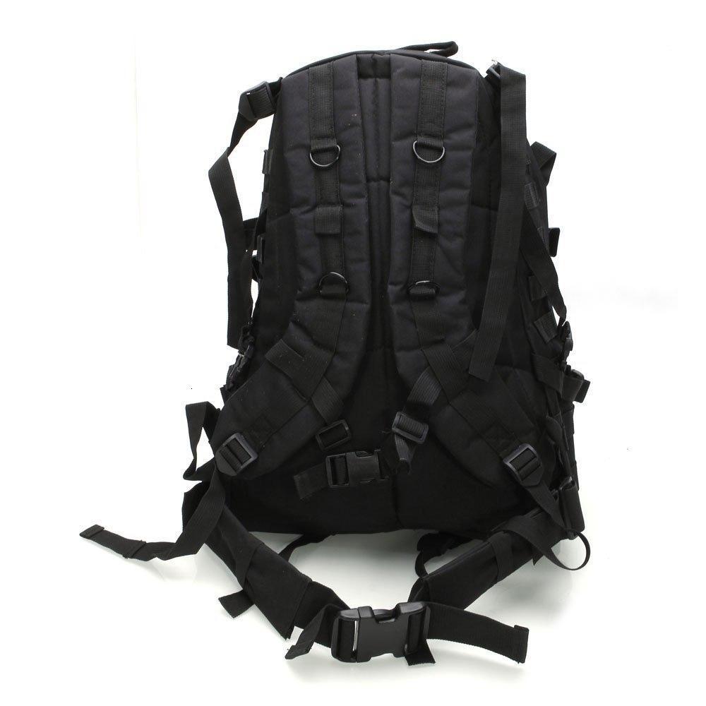 NOUVEAU 40L 600D Etanche Oxford Tissu Sac à dos militaire Acu Camouflage Sac de voyage Noir