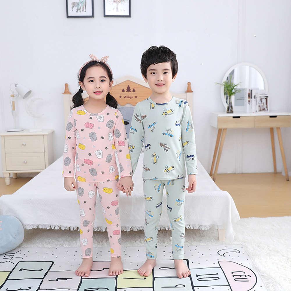 Nuovo pigiama caldo e 2020 ragazze Ragazzi Biancheria intima in puro cotone Set Pantaloni autunno Pantaloni autunnali per bambini
