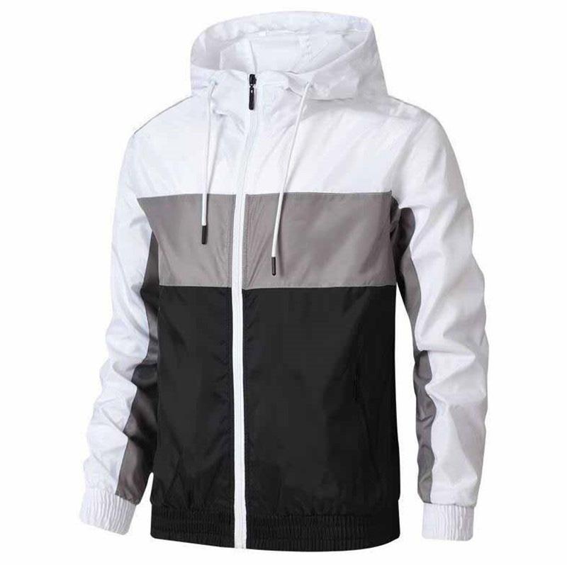 2020 мужская одежда дизайнеры мужские зимние куртки пальто мужчины ветровка тонкое пальто с длинным рукавом Zipper роскошь куртки работает спортивная одежда