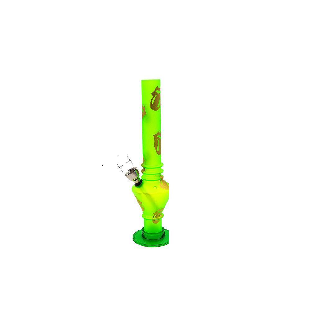 Mode bunte Silikon-Mini-Bong-Wasser-Rohr faltbare Wasser-Rohr-Hukahn-Wasserleitungen Gummi-Hukahn-Öl