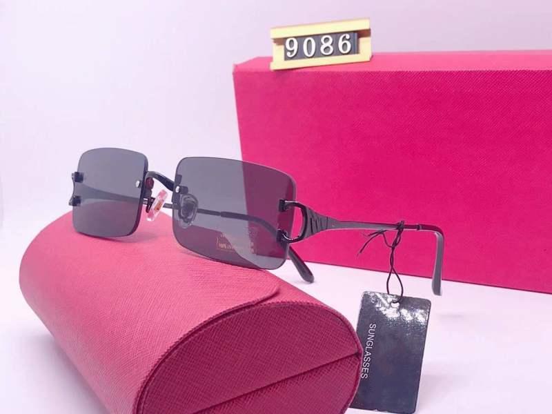 2020 Modesport Schwarz Büffel Horn Brille Männer Quadratische Linsen Metallrahmen Brillen Frauen Randlose Sonnenbrille mit Boxen Lunetten