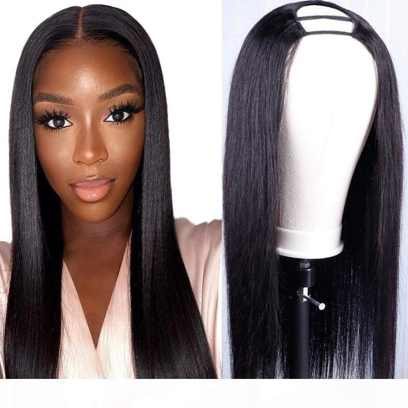 U Part Perruque Cheveux Humains Heart Humain Hair Perruque Vierge Brésilienne Droit 150% Perruque de densité Prépurée pour les femmes
