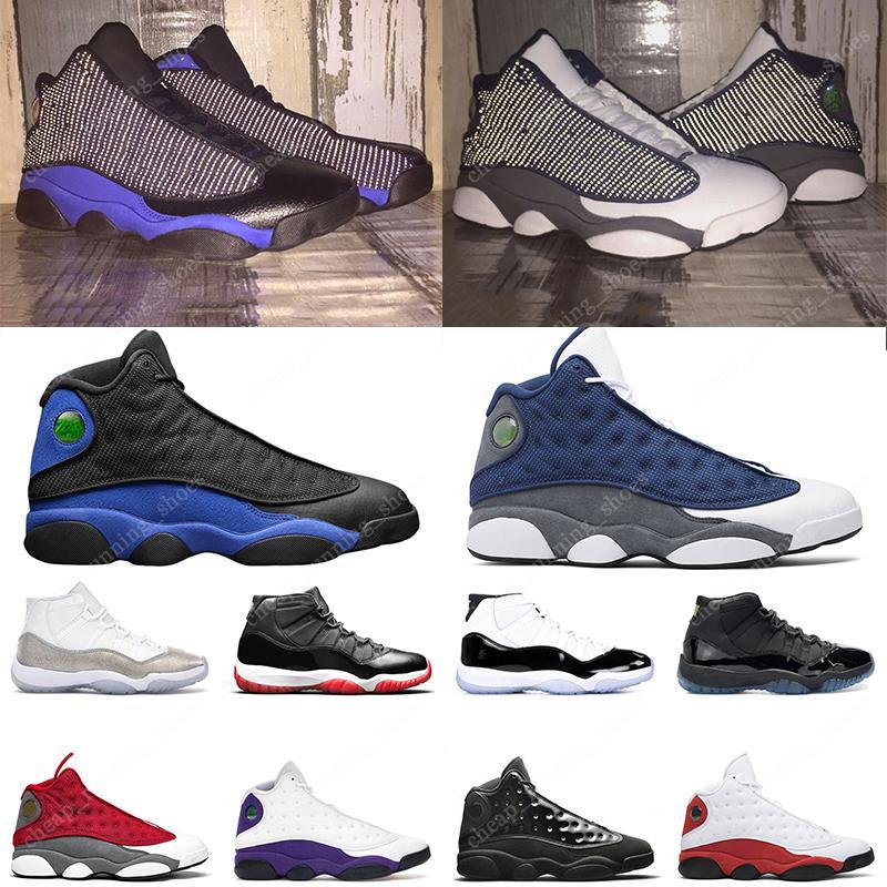 Flint 13 Jumpman 11 hombres mujeres zapatillas de baloncesto Bred 11s Hyper Royal Lucky Green Playground 13s Concord Blue zapatillas deportivas para hombre