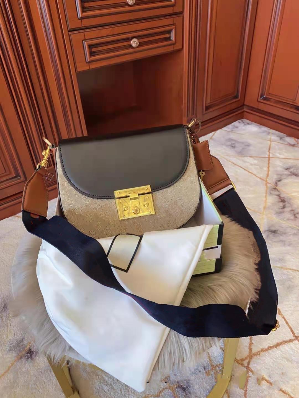 Bolso de mano de cuero genuino Vintage Messenger Bolsos mujer desgastada mujer Saddle Spell Woms Bols Bags Bolsos Bolsos Hombro Moda Chicas TNBF