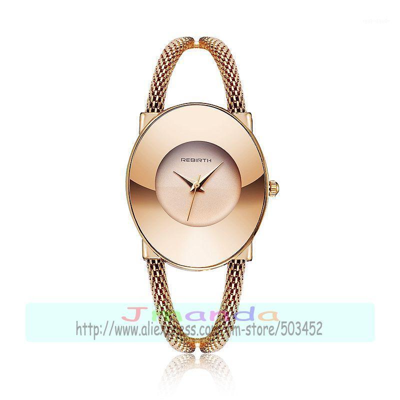 Wristwatches 50pcs/lot RE108 Luxury Women Stainless Steel Bangle Watch High Quality Quartz Casual Lady Wholesale Wristwatches1