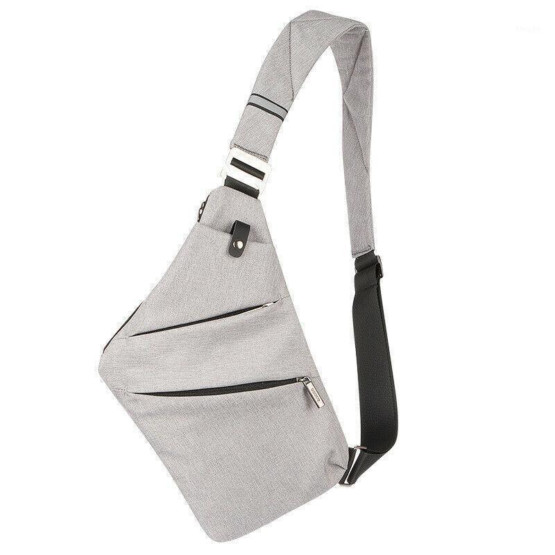 Neue Männer Brusttasche Multifunktions Tragbare Geldbörse Mode Feste Farbe Schlinge Umhängetasche Messenger1