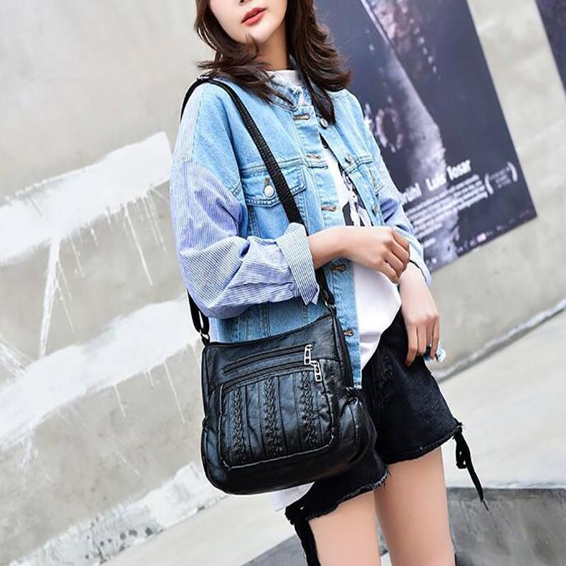 Bolsa de señoras Soft Messenger Mujeres Hobo Mujer Bolso Bolso Femenino Diseñador de lujo Feminina Sac Bolsos Hombro de cuero Un Main Fdkoe