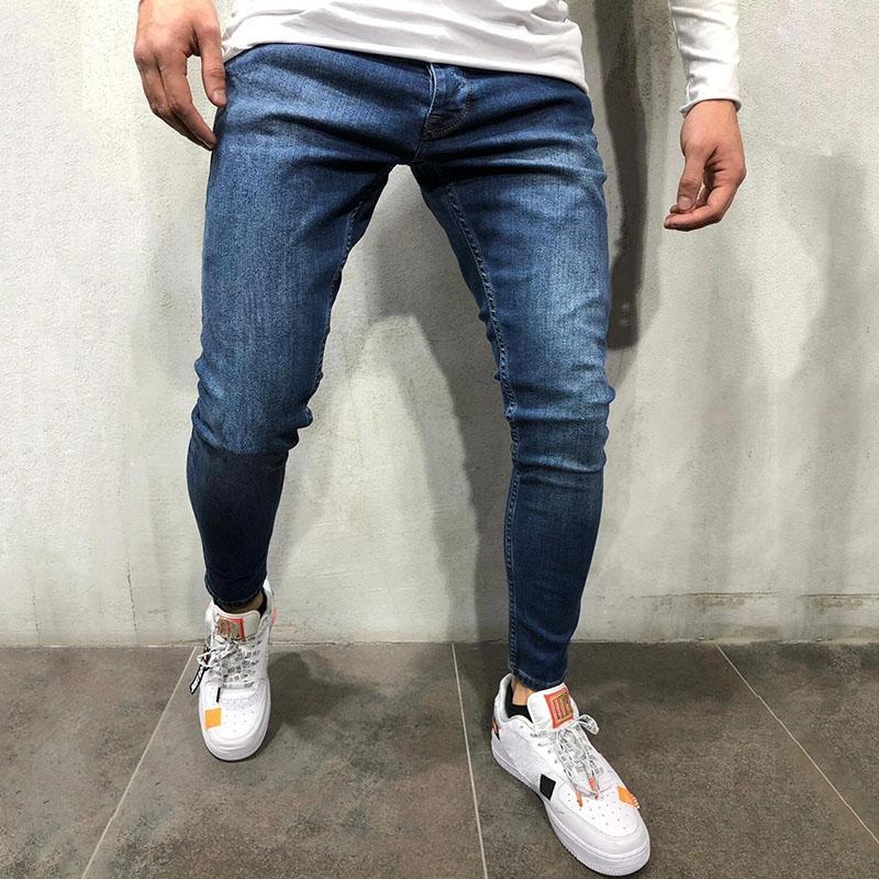 Moda Stilist Erkekler Kot 2021 En Kaliteli Jogger Pantolon Hip Hop Street Jogging Man için Rahat Pamuk Jean