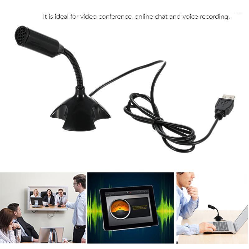 Microfones USB Desktop Microfone 360 ° Suporte Ajustável Voz Conversando Gravação de Gravação para PC Mac com um Port1