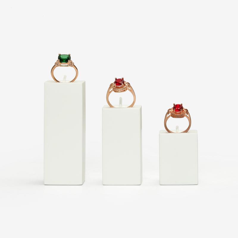 Finger Diamond Ring Display Stand vernice bianca Nero Gioielli proposta Anelli Holder Prop per Boutique contatore Vetrina Fiera Visualizza