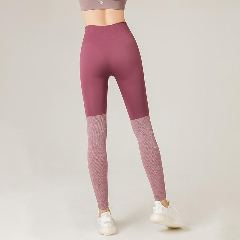 Best Selling Peach Hip High Waist Yoga Pants Sports Tights Sweat-absorbent Quick-drying Hip Mesh Stitching Fitness Pants